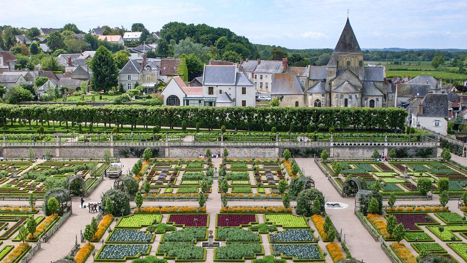 Der Küchengarten des Château de Villandry. Foto: Hilke Maunder
