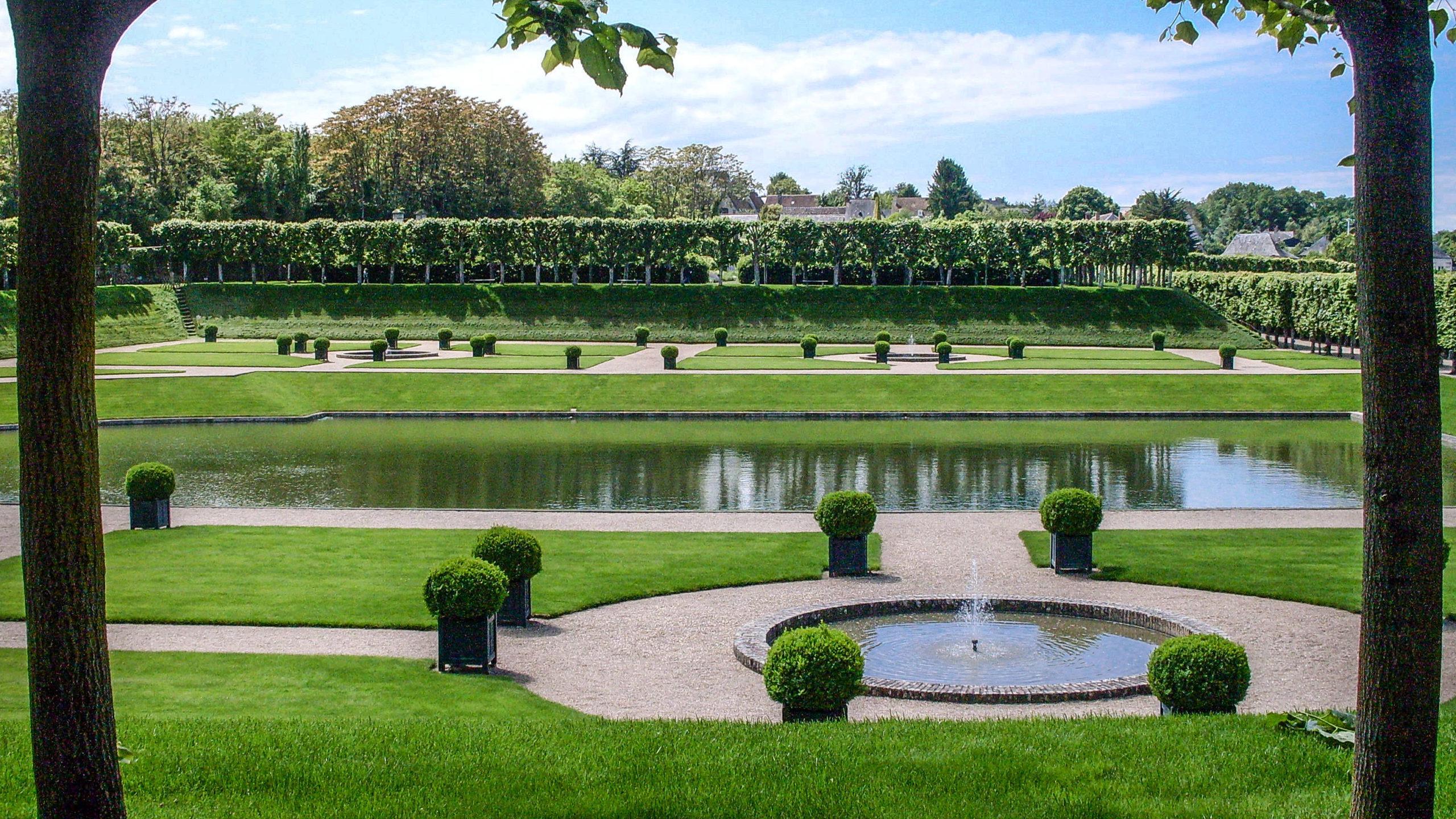 Château de Villandry: der Wassergarten. Foto: Hilke Maunder
