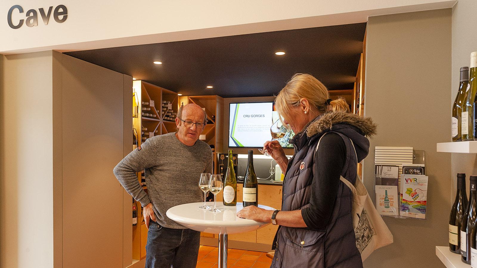 Clisson: Muscadet-Weinprobe im Office de Tourisme. Foto: Hilke Maunder