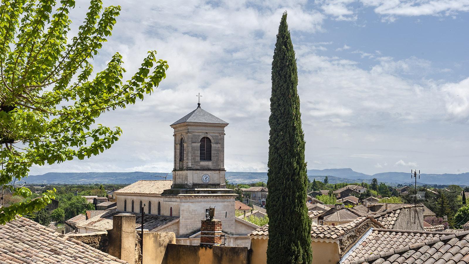 Blick auf Suze-la-Rousse vom Burgschloss aus. Foto: Hilke Maunder