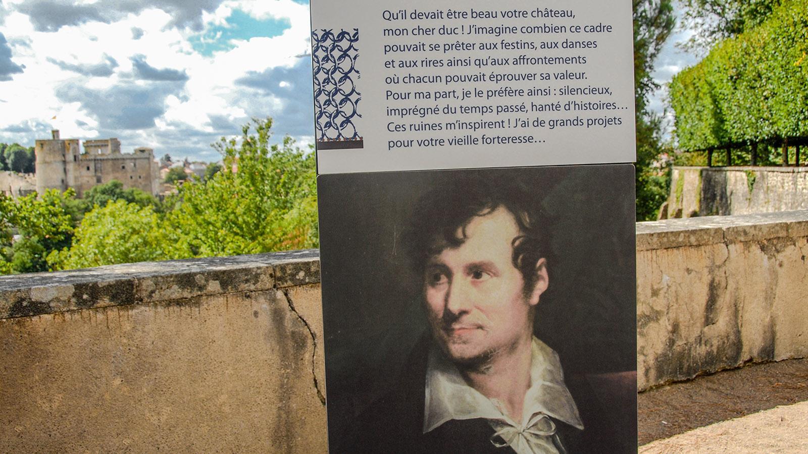 Clisson: Zitat von Lemot auf La Garenne. Foto: Hilke Maunder