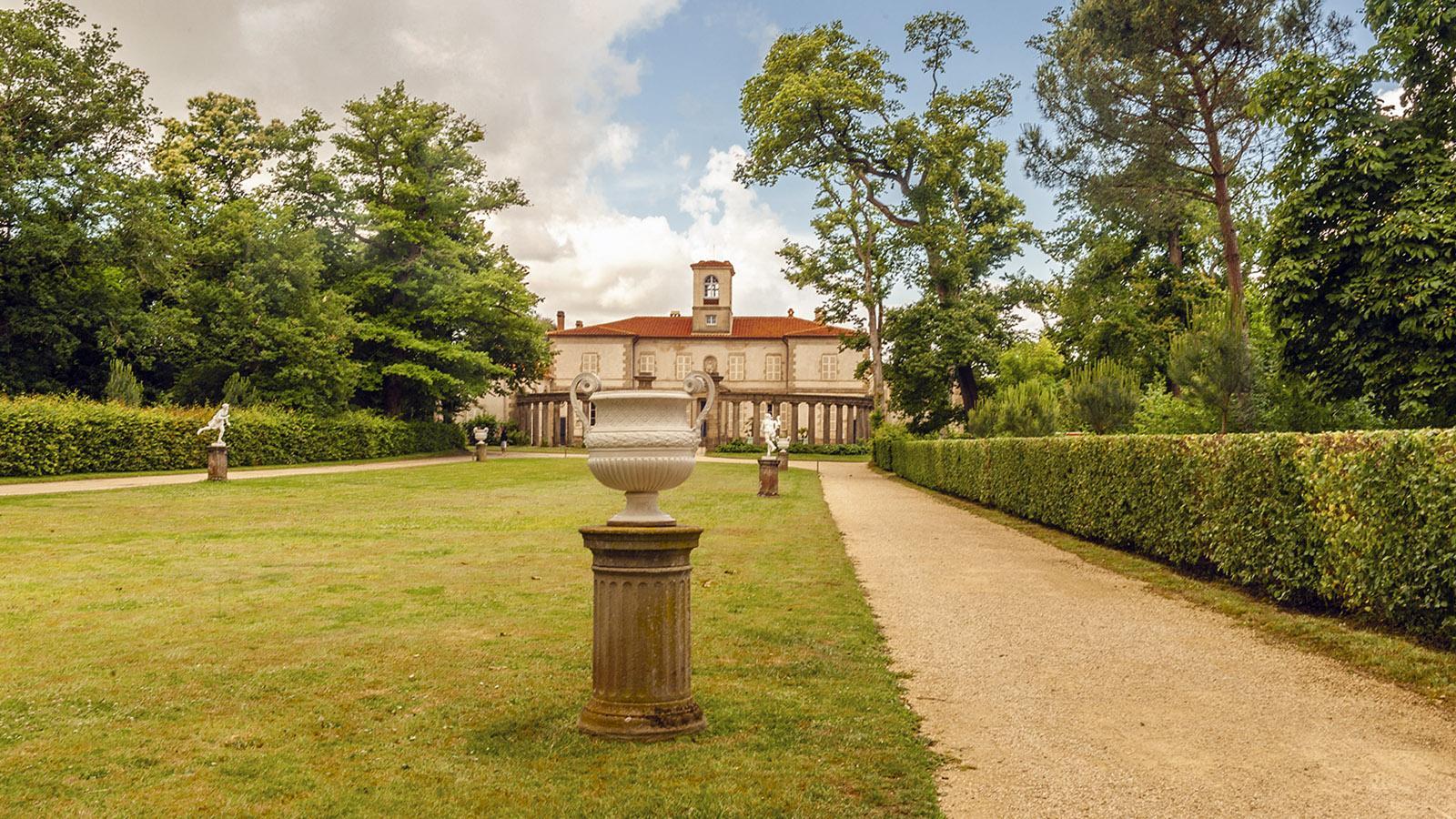 Clisson: der formelle Garten vor der Villa von La Garenne. Foto: Hilke Maunder