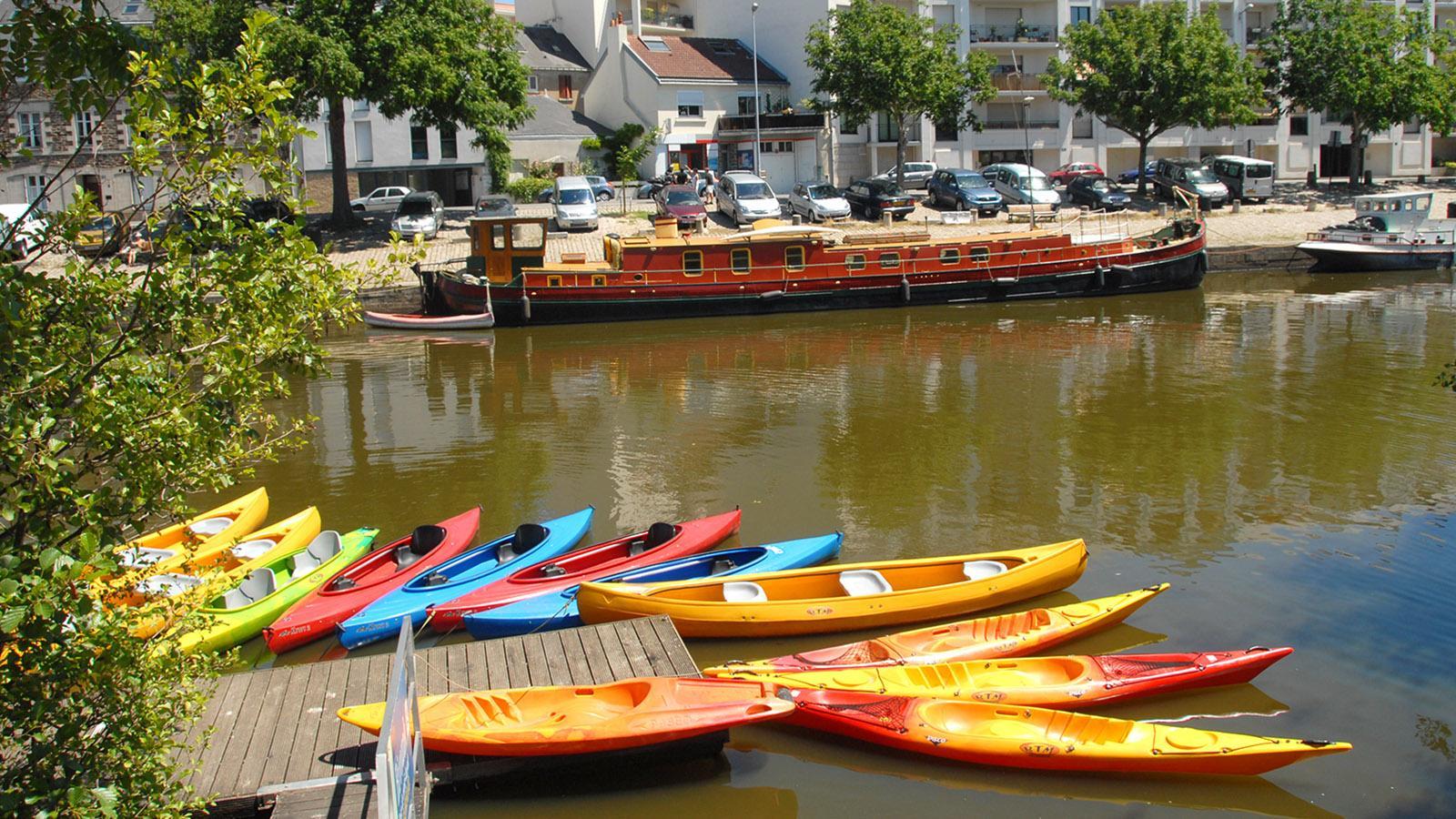 Nantes: Bootsverleih an der Erde. Foto: Hilke Maudner