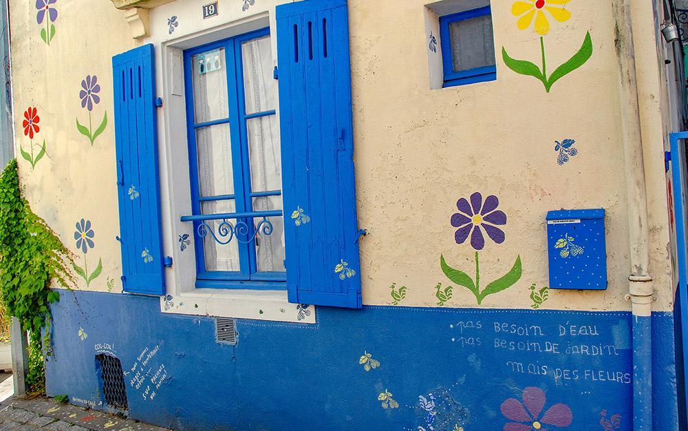 Trentemoult: Hier wohnt ein Blumenliebhaber! Foto: Hilke Maunder