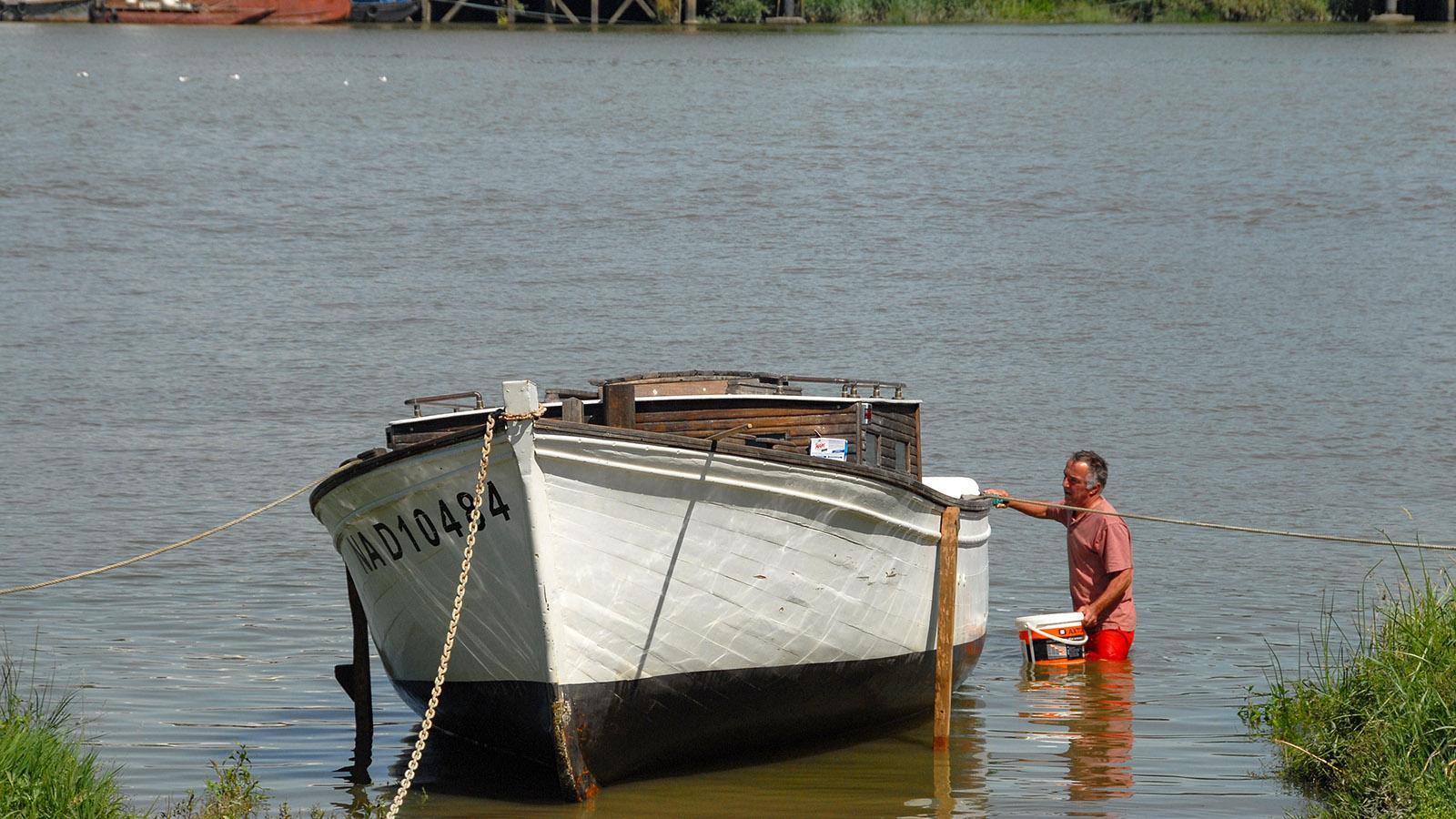 Trentemoult: Das Boot wird fit gemacht für die neue Saison. Foto: Hilke Maunder