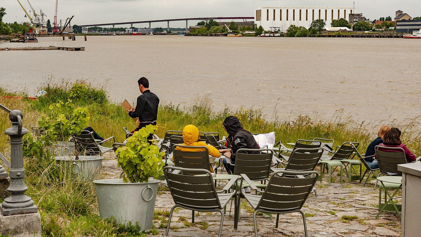 Nantes: Trentemoult. Guinguette an der Loire. Foto: Hilke Maunder