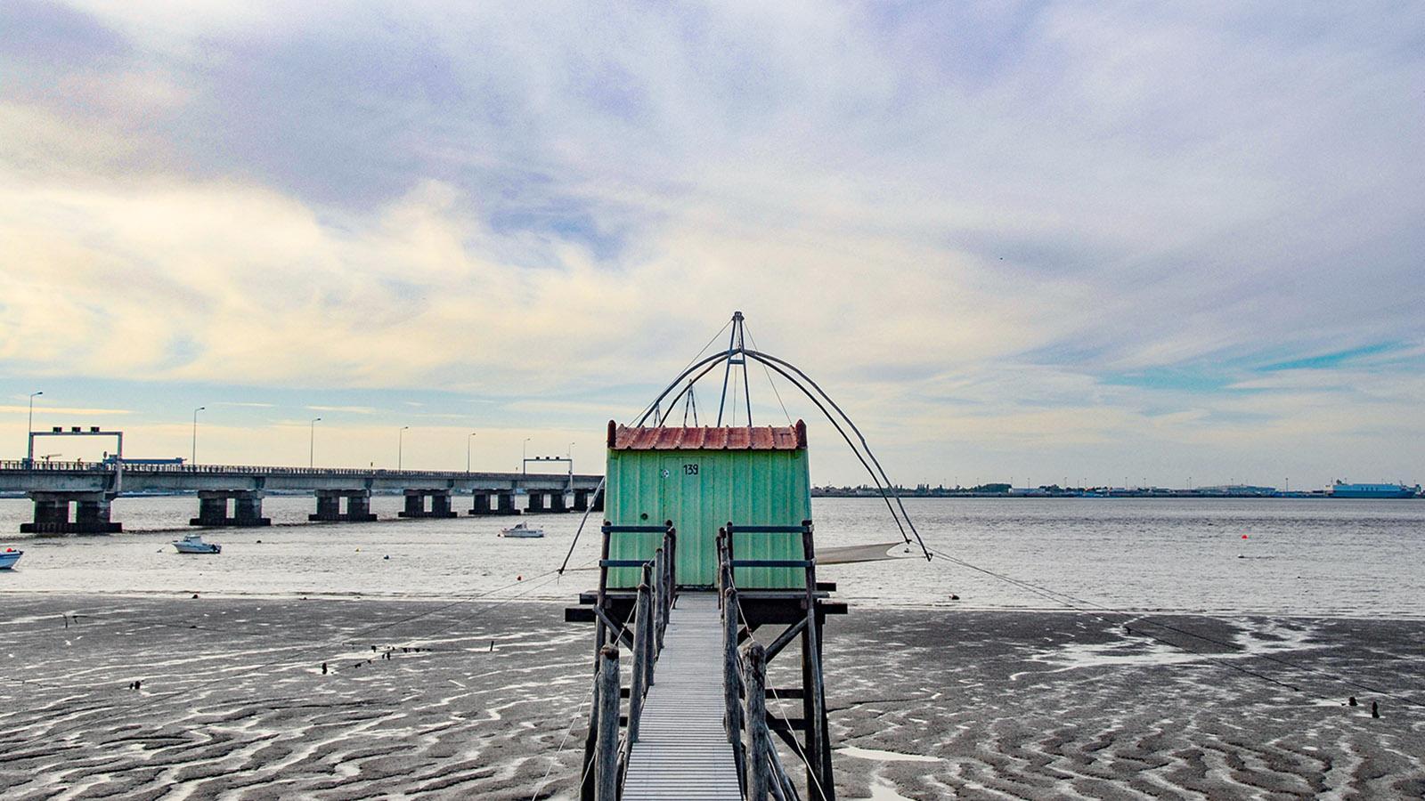 St-Brévin-de-Pins: Fischerhütte an der Loire-Mündung
