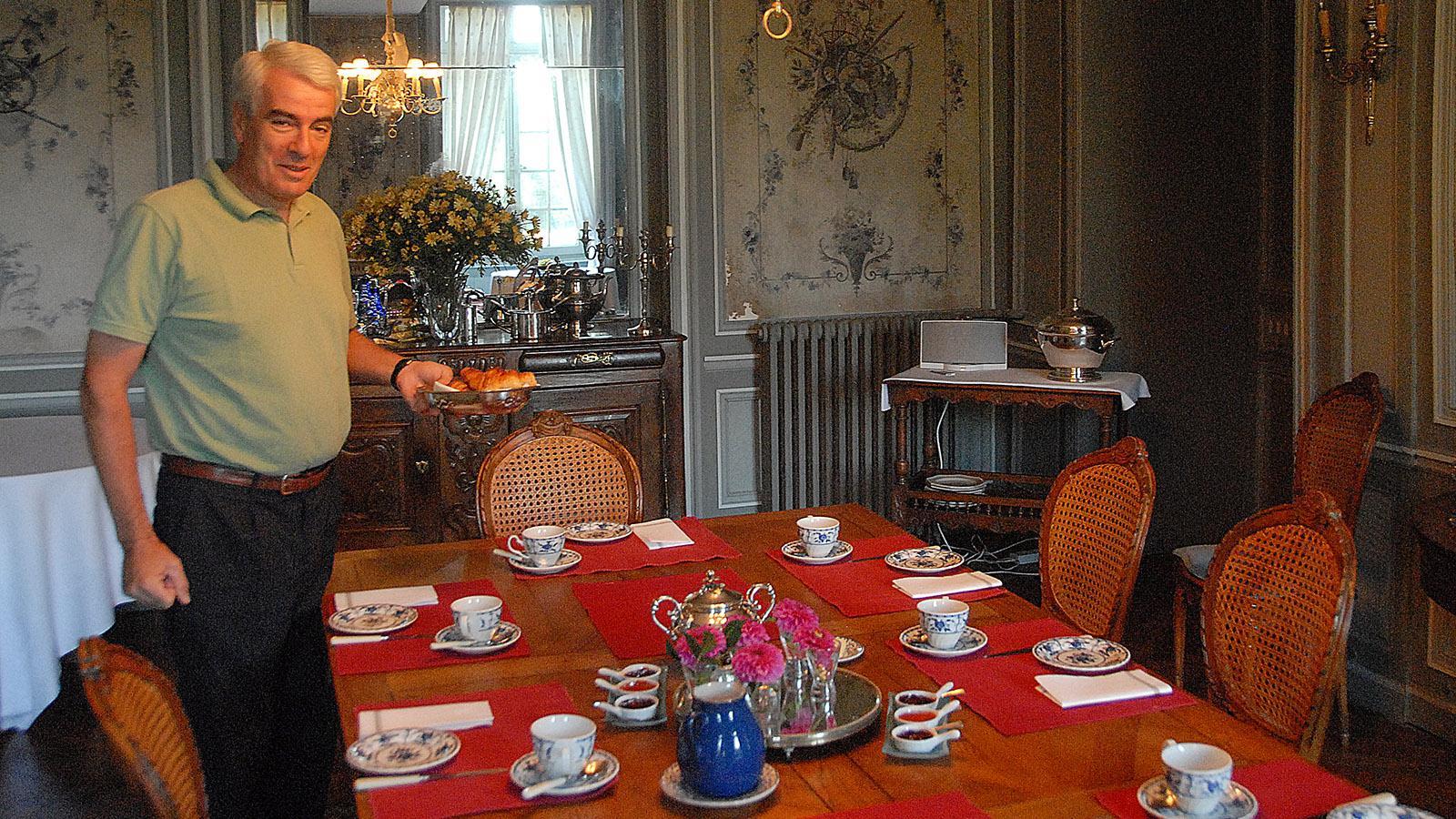 Château de Sarzeaux: Madame kocht, Monsieur serviert. Foto: Hilke Maunder