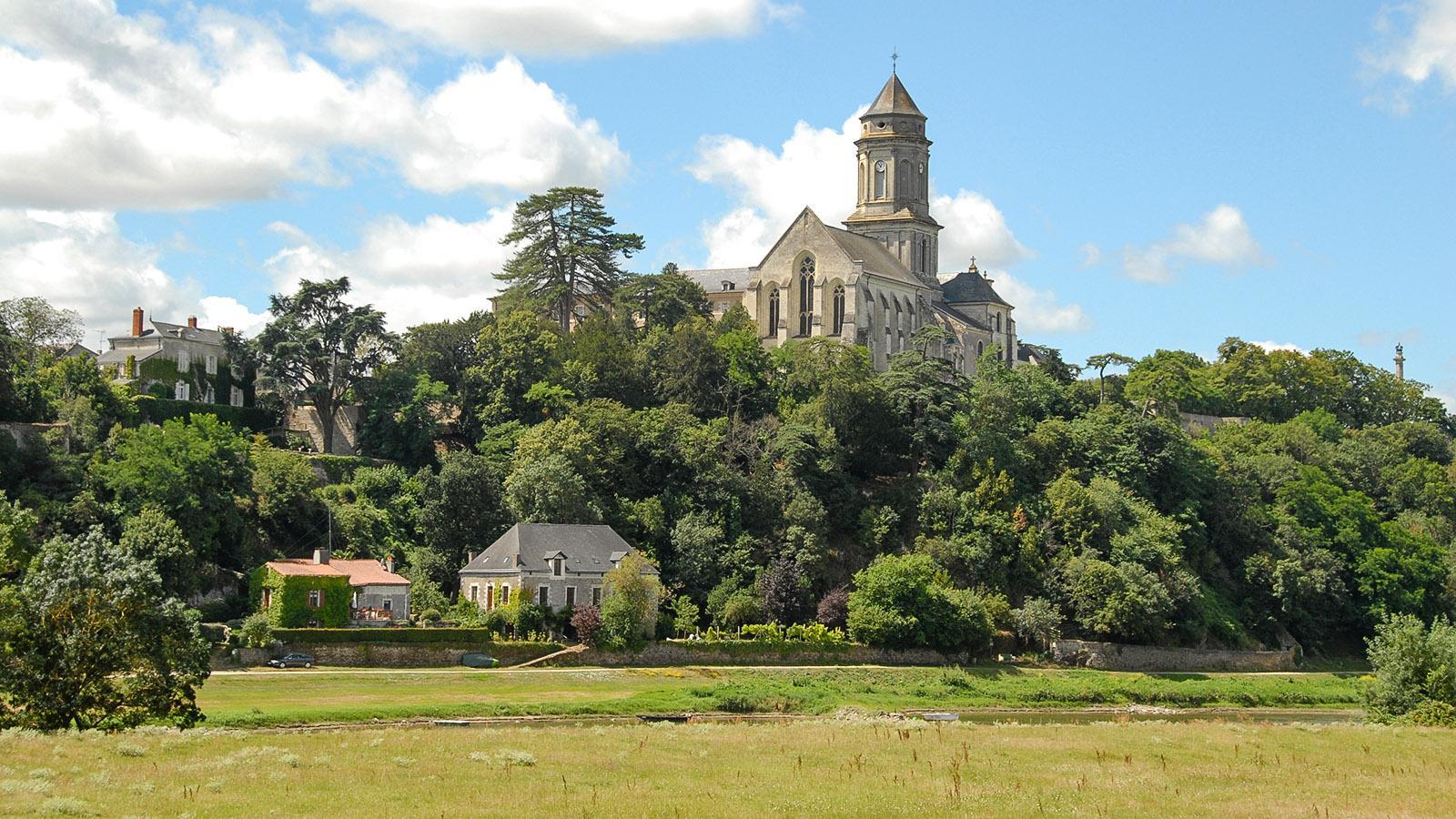 Saint-Florent-le-Vieil: Abtei hoch über der Loire. Foto: Hilke Maunder