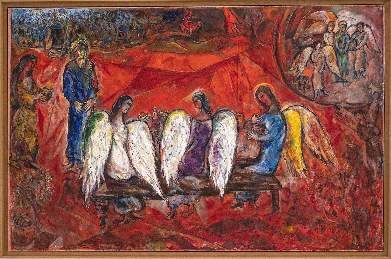 Abraham und die drei Engel. Copyright. Marc Chagall/Musée Marc Chagall, Nizza. Foto: Hilke Maunder