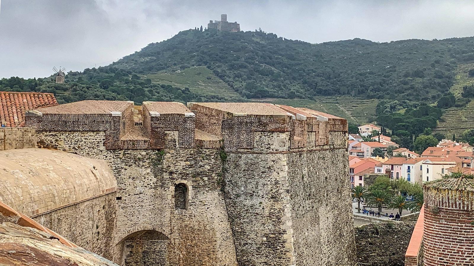 Die Königsburg von Collioure ergänzten weitere militärische Einrichtungen. Foto: Hilke Maunder