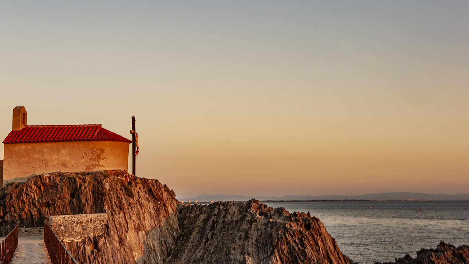 Collioure. Die Kapelle auf dem Îlot Saint-Vincent. Foto: Hilke Maunder