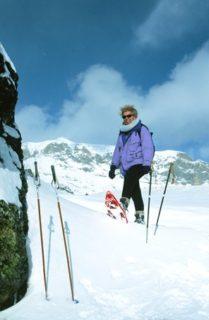 F/Midi-Pyrénées/Cirque de Gavarnie: Schneeschuhwandern. Nathalie Morel