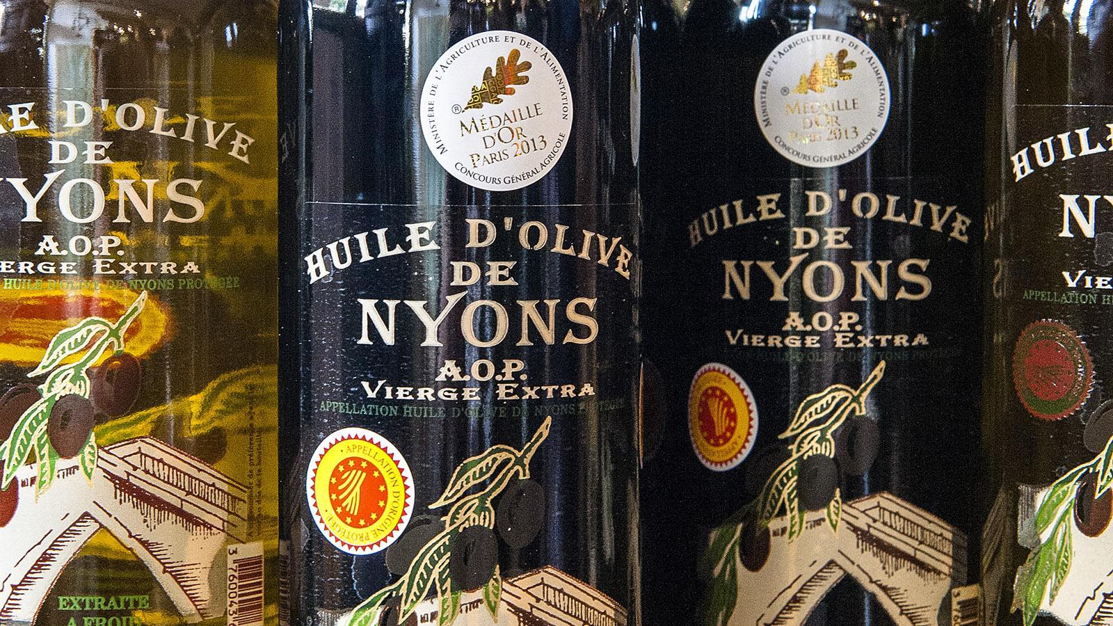 Ausgezeichnet: das Olivenöl von Nyons. Foto: Hilke Maunder