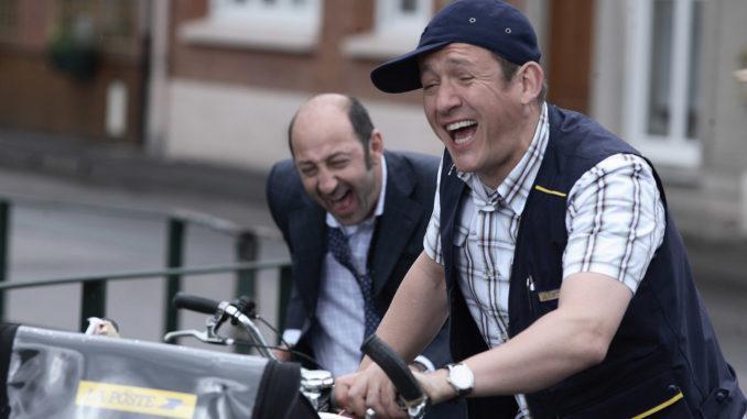 Dany Boon (Antoine) und Kad Merad (Philippe) bei der Postrunde... Foto: Pathé Films