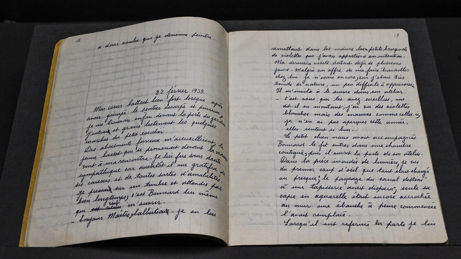 Musée Bonnard: Pierre Bonnard führte Tagebuch. Foto: Hilke Maunder