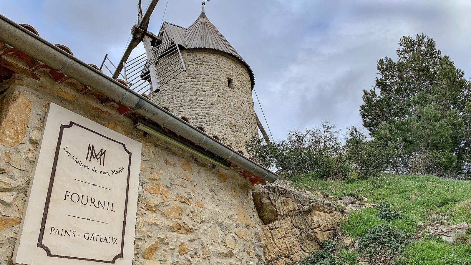 Cucugnan: Maitres de mon moulin - Mühle und Bäckerei. Foto: Hilke Maunder