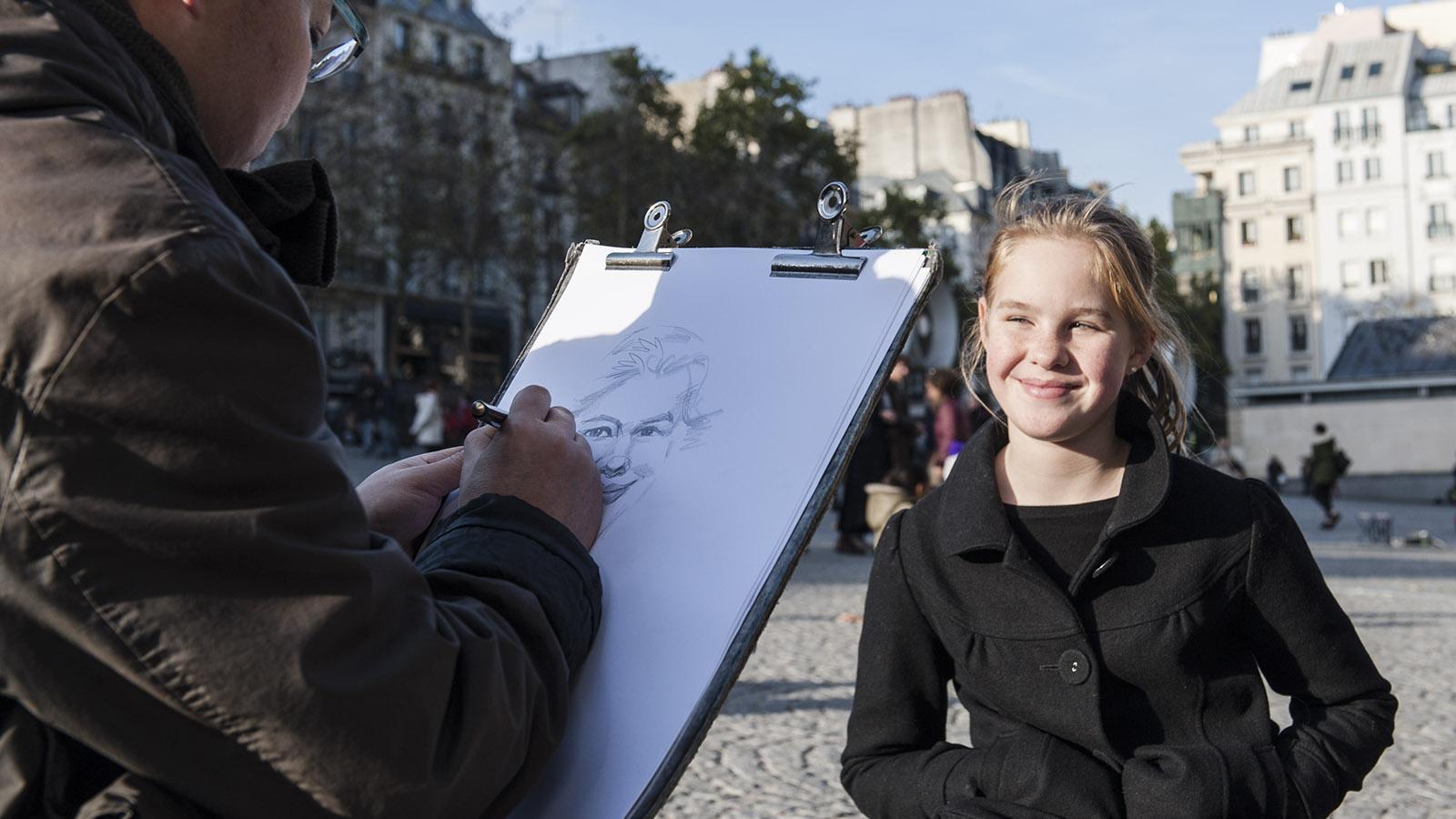 Nicht immer gelingen die Portraits der flinken Maler - meine Tochter war arg enttäuscht und meine, das Werk sei eher eine Karikatur... Foto: Hilke Maunder