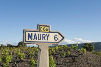 Pyrénées Orientales_Val d'Agly_Maury_Wein_Schild_©Hilke Maunder
