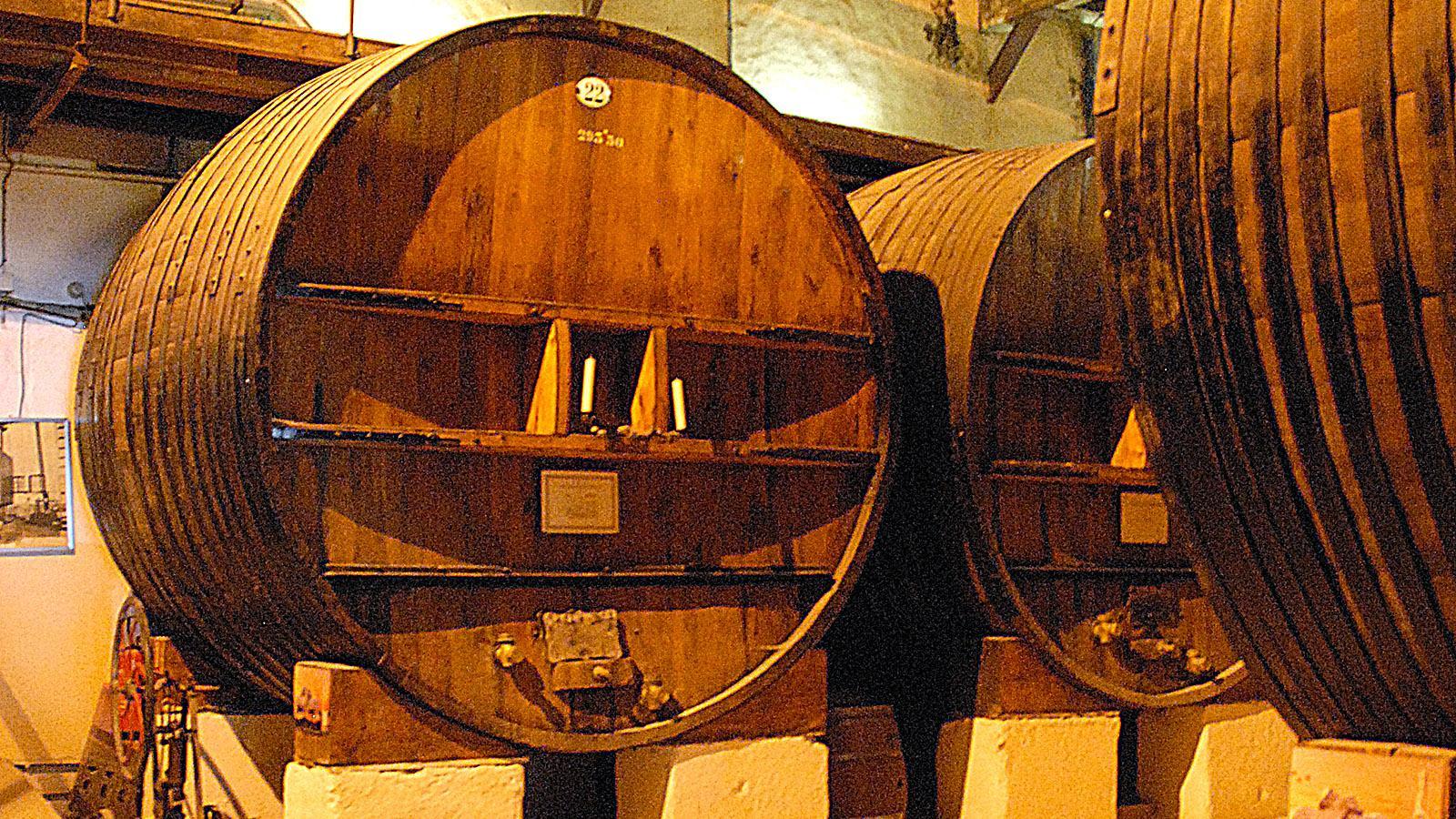 Visite de Cave bei Listel: Hier reift der Vin de Sable im Fass. Foto: Hilke Maunder