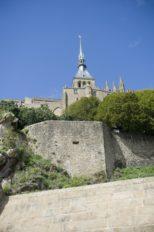 Mont Saint-Michel_Klosterberg_Abteikirche_Wehrmauer©Hilke Maunder