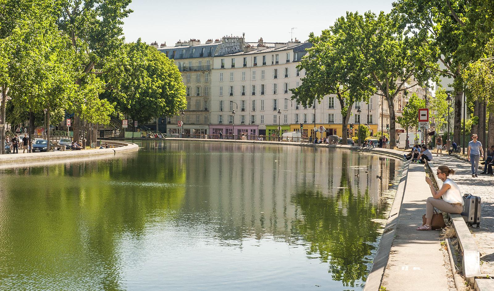 Am Canal Saint-Martin von Paris. Foto: Hilke Maunder