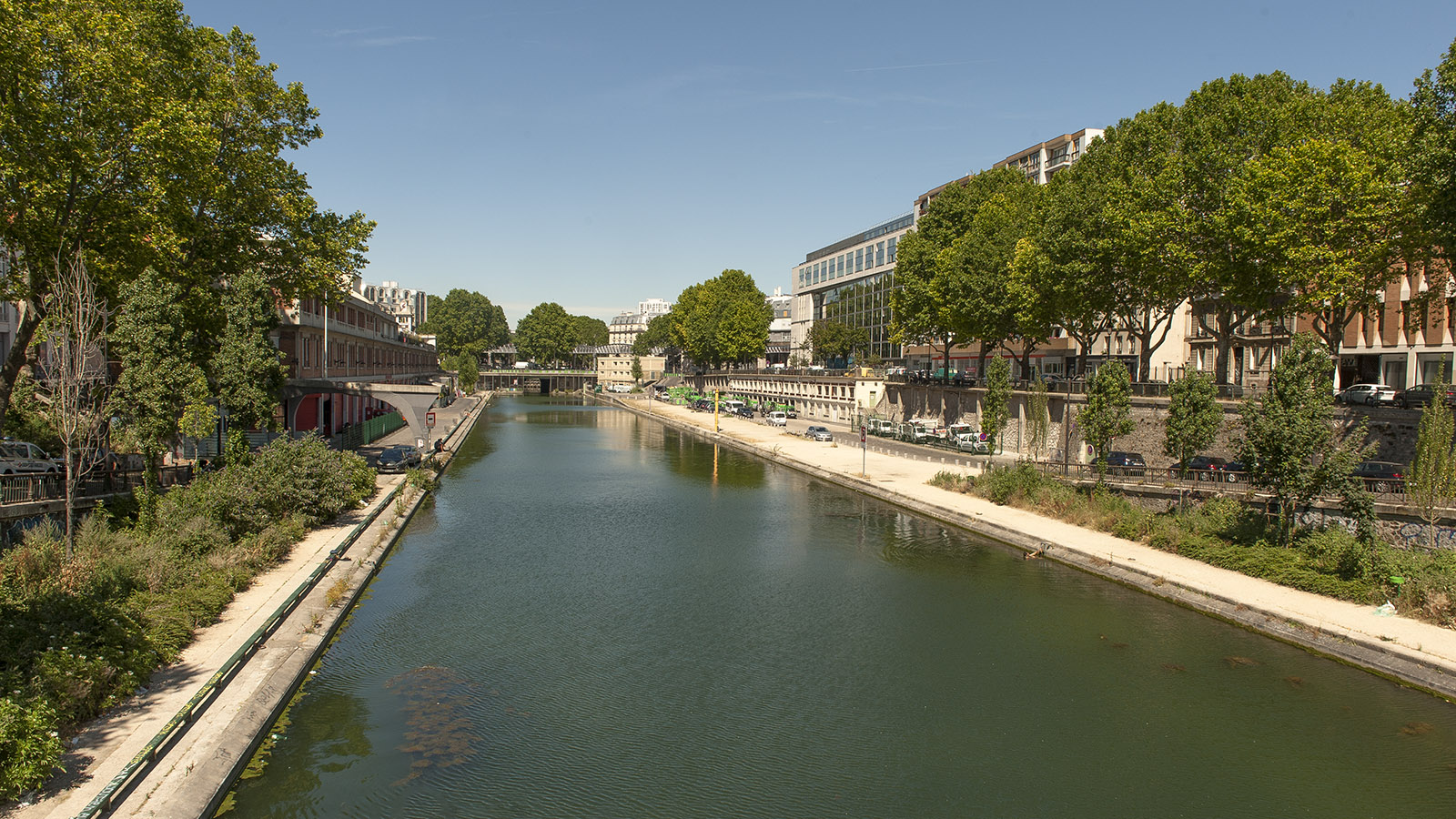 Canal Saint-Martin: Blick gen Norden. Foto: Hilke Maunder
