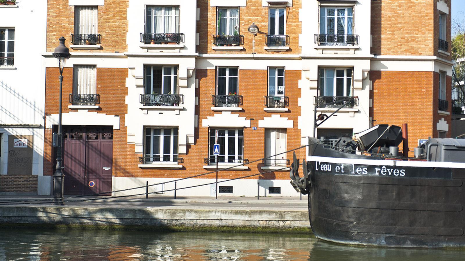 Was für ein schöner Name für ein Boot! Gesehen am Nordende des Canal Saint-Martin. Foto: Hilke Maunder