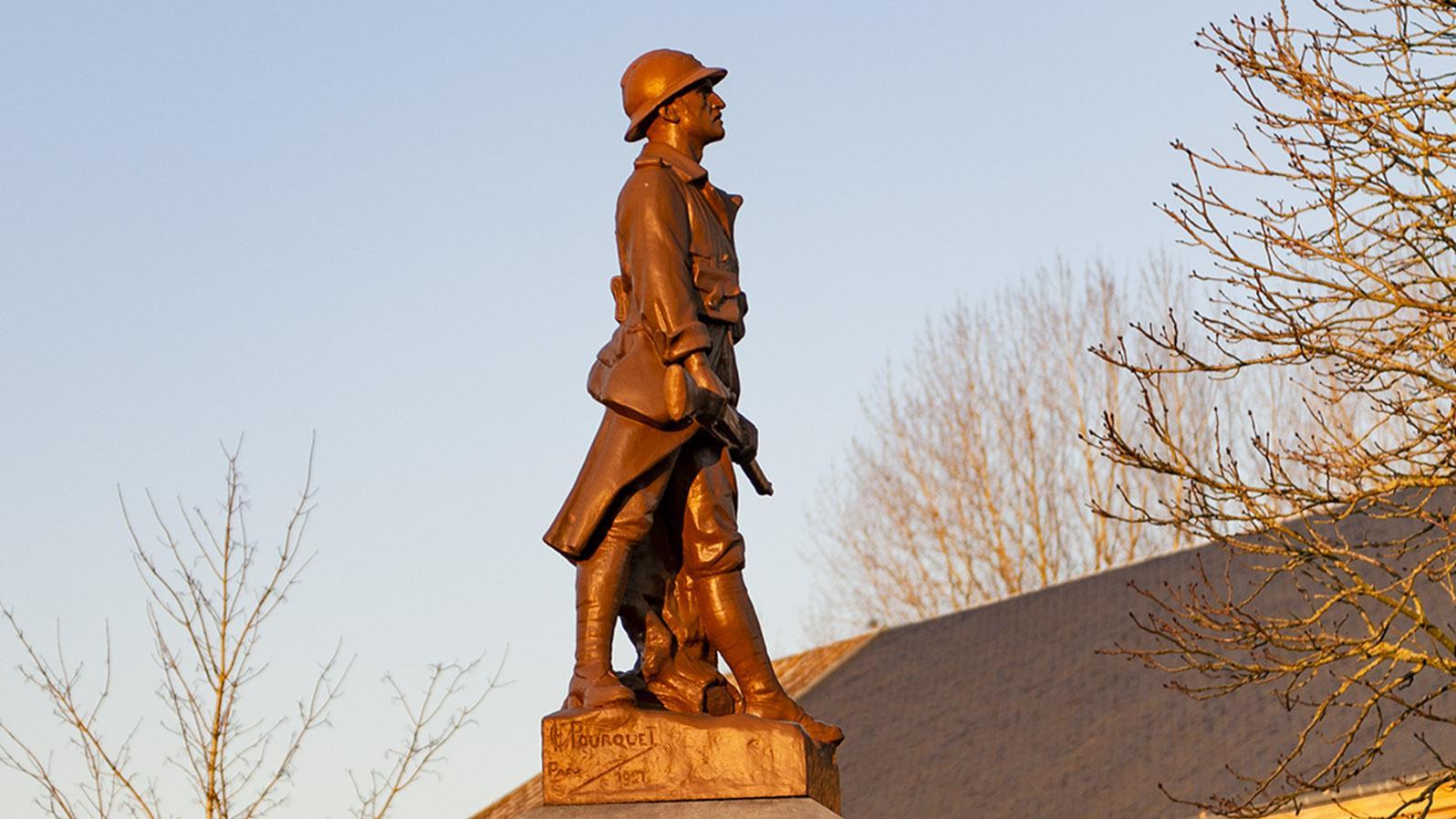 Kriegerdenkmal in den Ardennen. Foto: Hilke Maunder