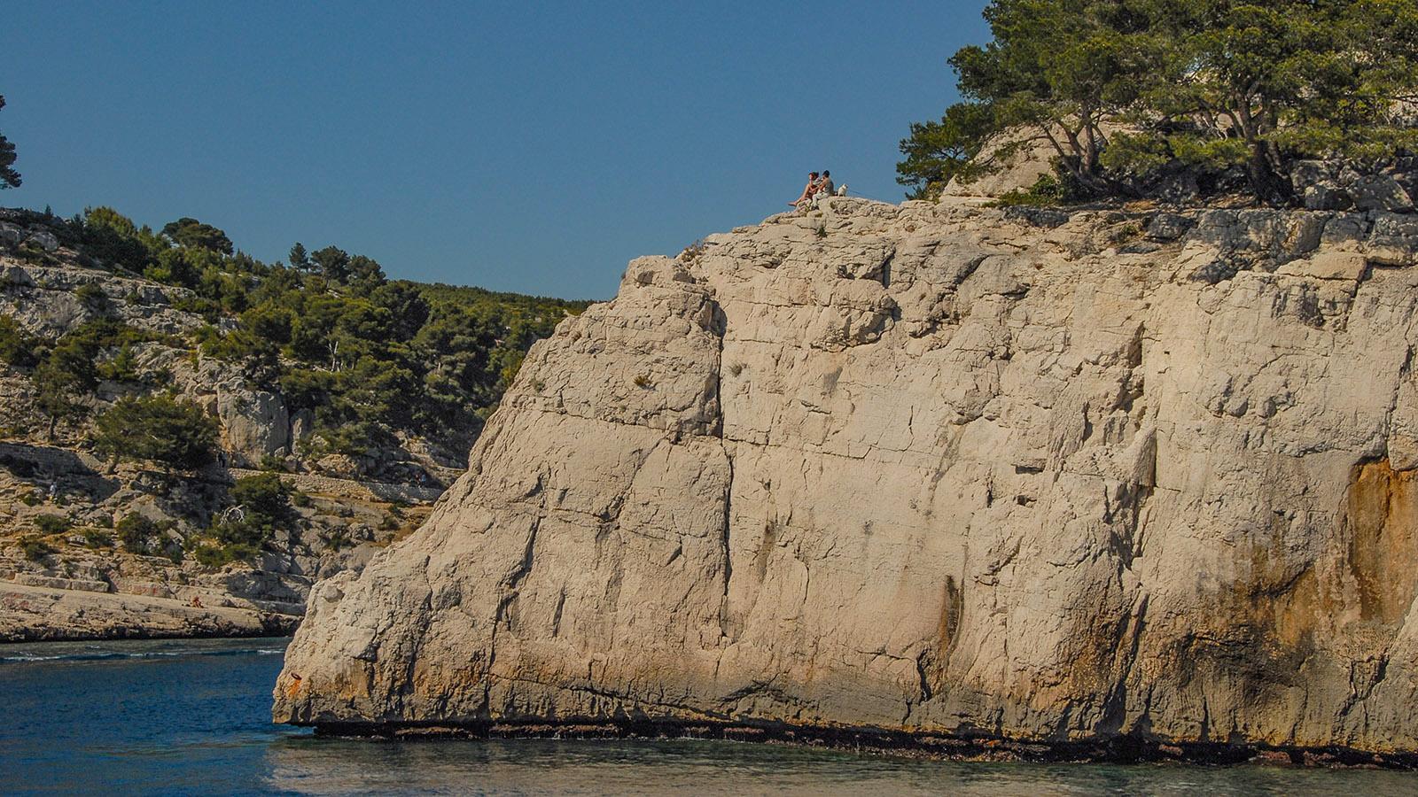 Calanques de Cassis: Ist es nicht wunderschön, das Sonnenplätzchen in der Calanque de Port-Pin. Foto: Hilke Maunder