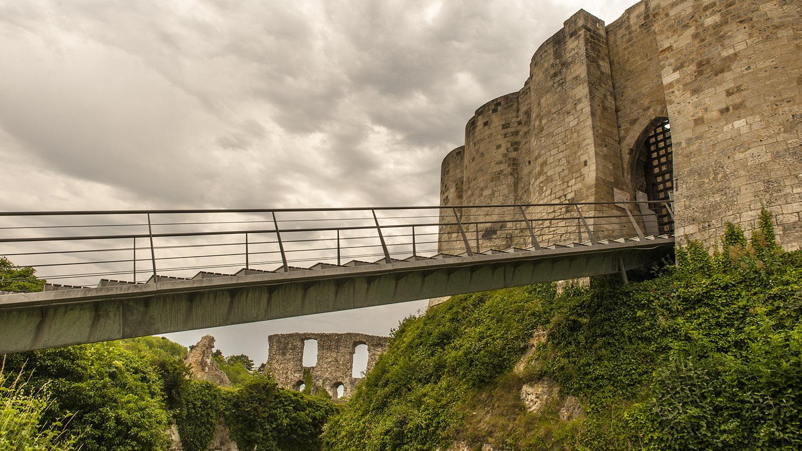 Château Gaillaird: Zugang zur inneren Burg. Foto: Hilke Maunder