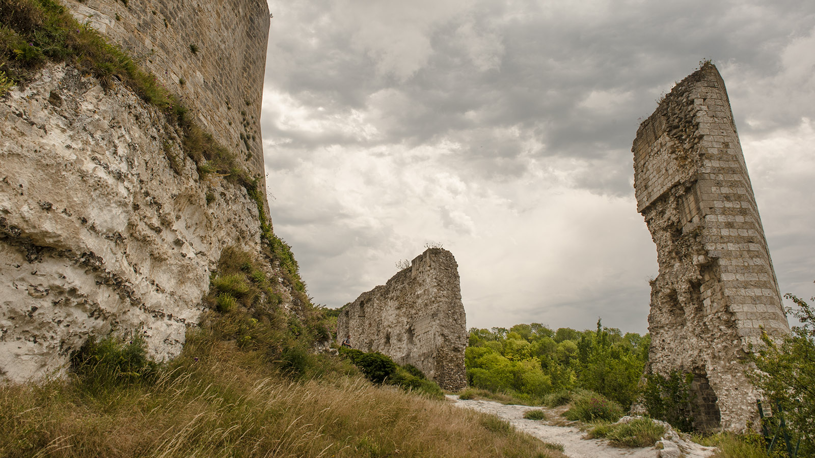 Eindrucksvoll: die Ruinen des Château Gaillard. Château Gaillard. Foto: Hilke Maunder