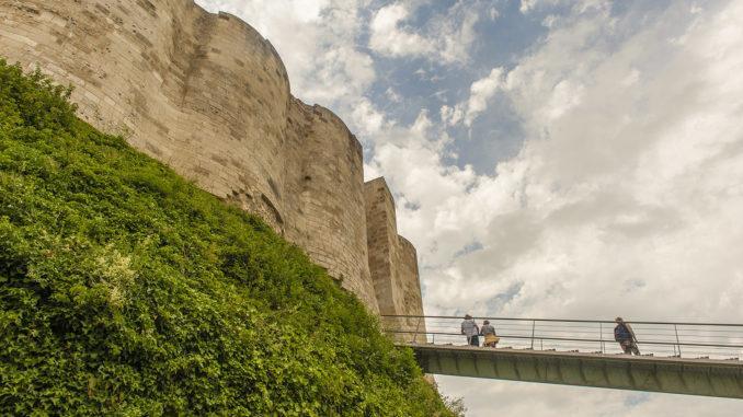 Château Gaillard: der Zugang zur inneren Burg. Foto: Hilke Maunder