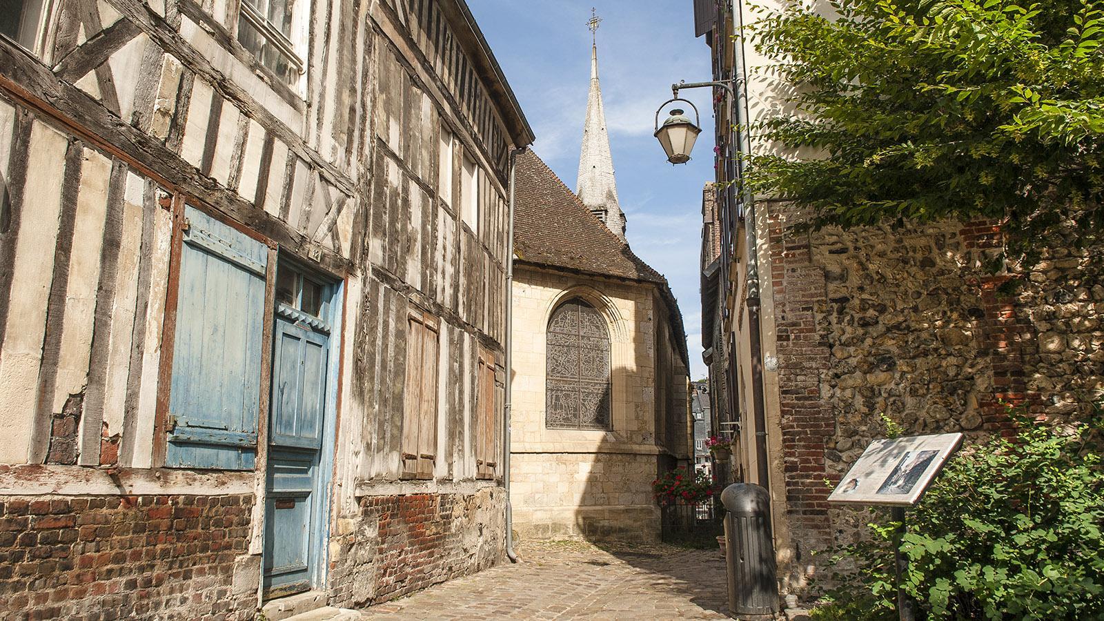 Boudin und Honfleur: in der Altstadt. Foto: Hilke Maunder