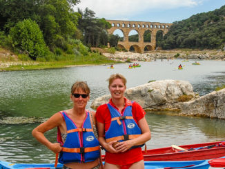 Pont du Gard: Paddeln auf dem Gardon. Foto: Hilke Maunder