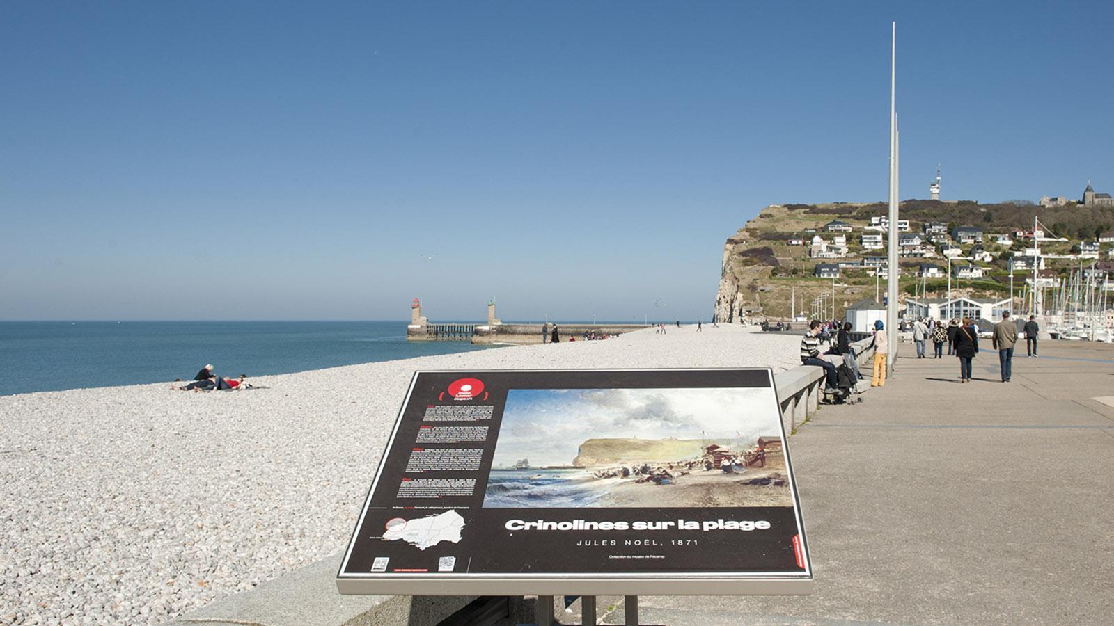 Fécamp: Promenade an der Klippenküste. Foto: Hilke Maunder