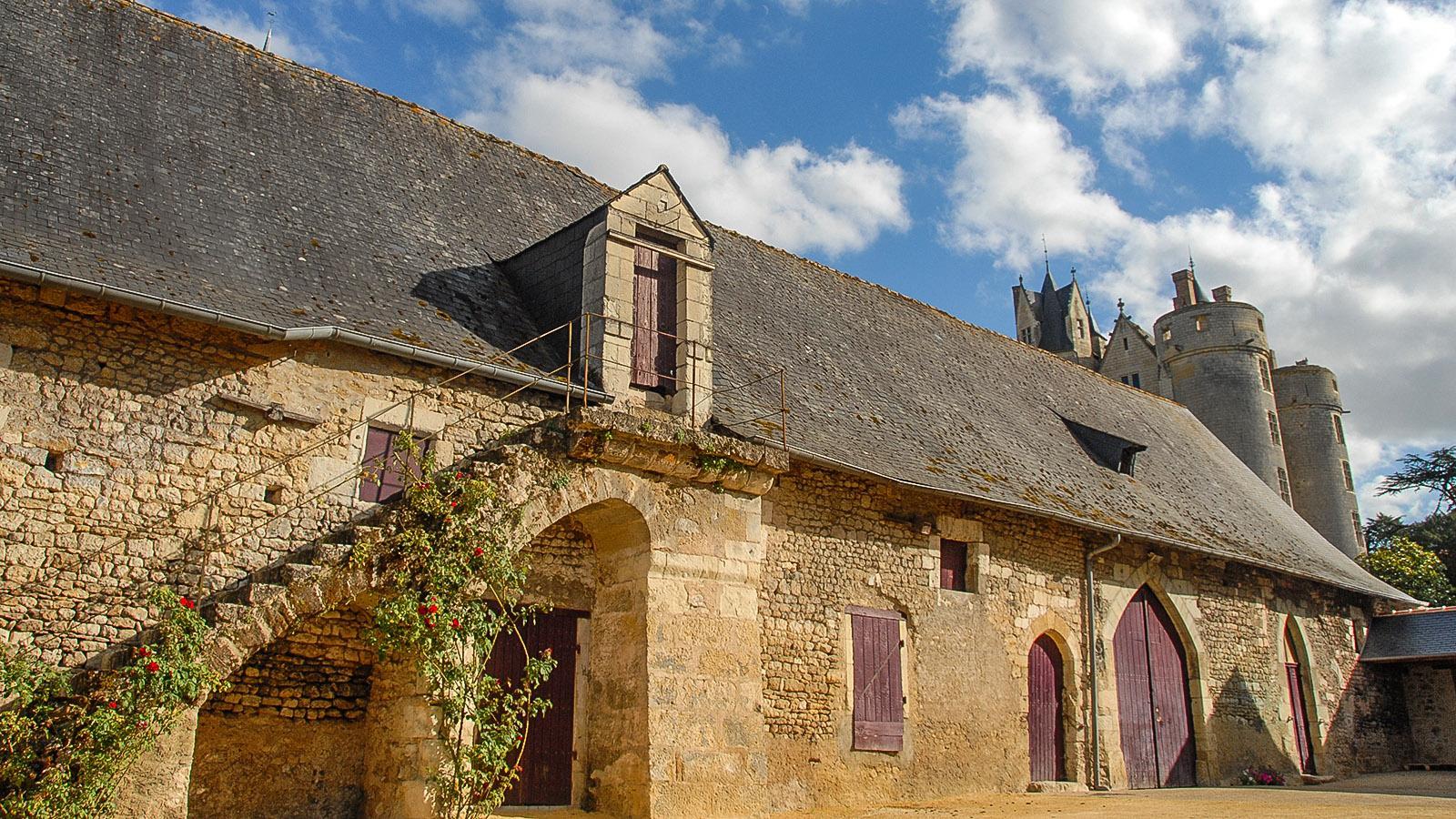 Montreuil-Bellay: Wirtschaftsgebäude der Burg, Foto: Hilke Maunder