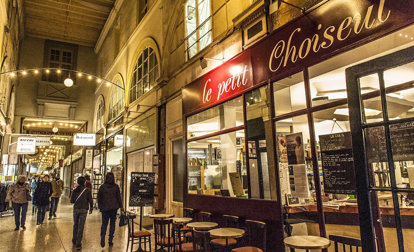 Pariser Passagen: Die Passage Choiseul. Foto: Hilke Maunder