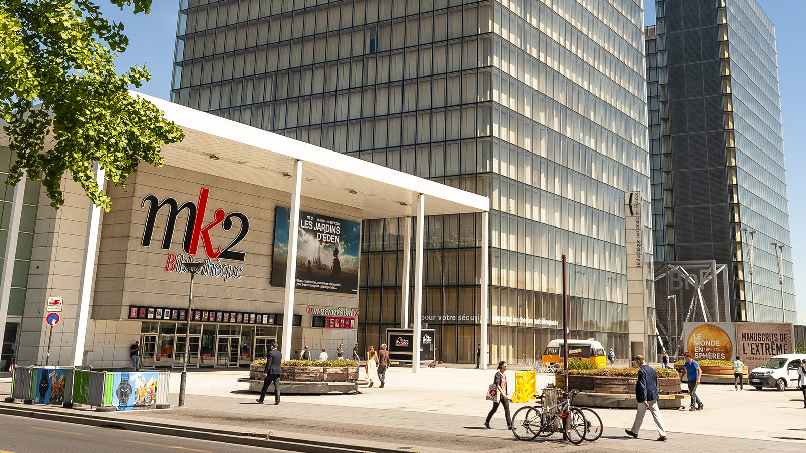 Tolbiac: Blick auf Kino und Nationalbibliothek. Foto: Hilke Maunder