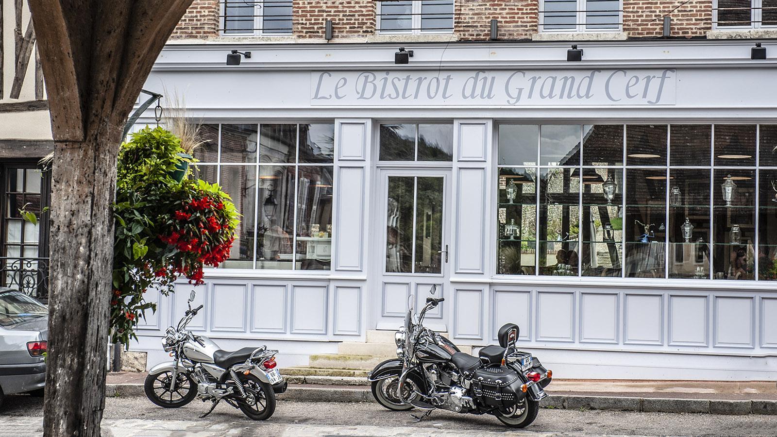 Lyons-la-Forêt: Restaurant Le Grand Cerf. Foto; Hilke Maunder