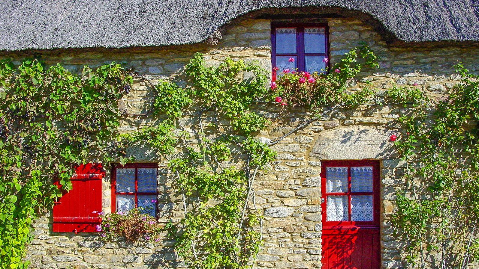 Grande Brière: Kerhinet. Das ganze Dorf ist restauriert und heute Freilichtmuseum. Foto: Hilke Maunder