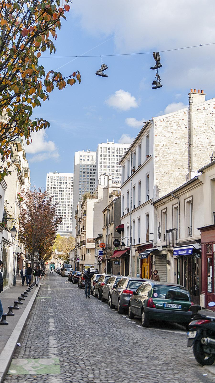 Ein Dorf, eingerahmt von den Hochhäusern des 13. Arrondissements: La Butte-aux-Cailes. Foto: Hilke Maunder