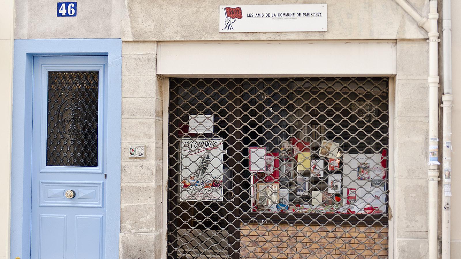 Die Freunde der Pariser Kommune erinnern in Butte-aux-Cailles an den Aufstand. Foto: Hilke Maunder