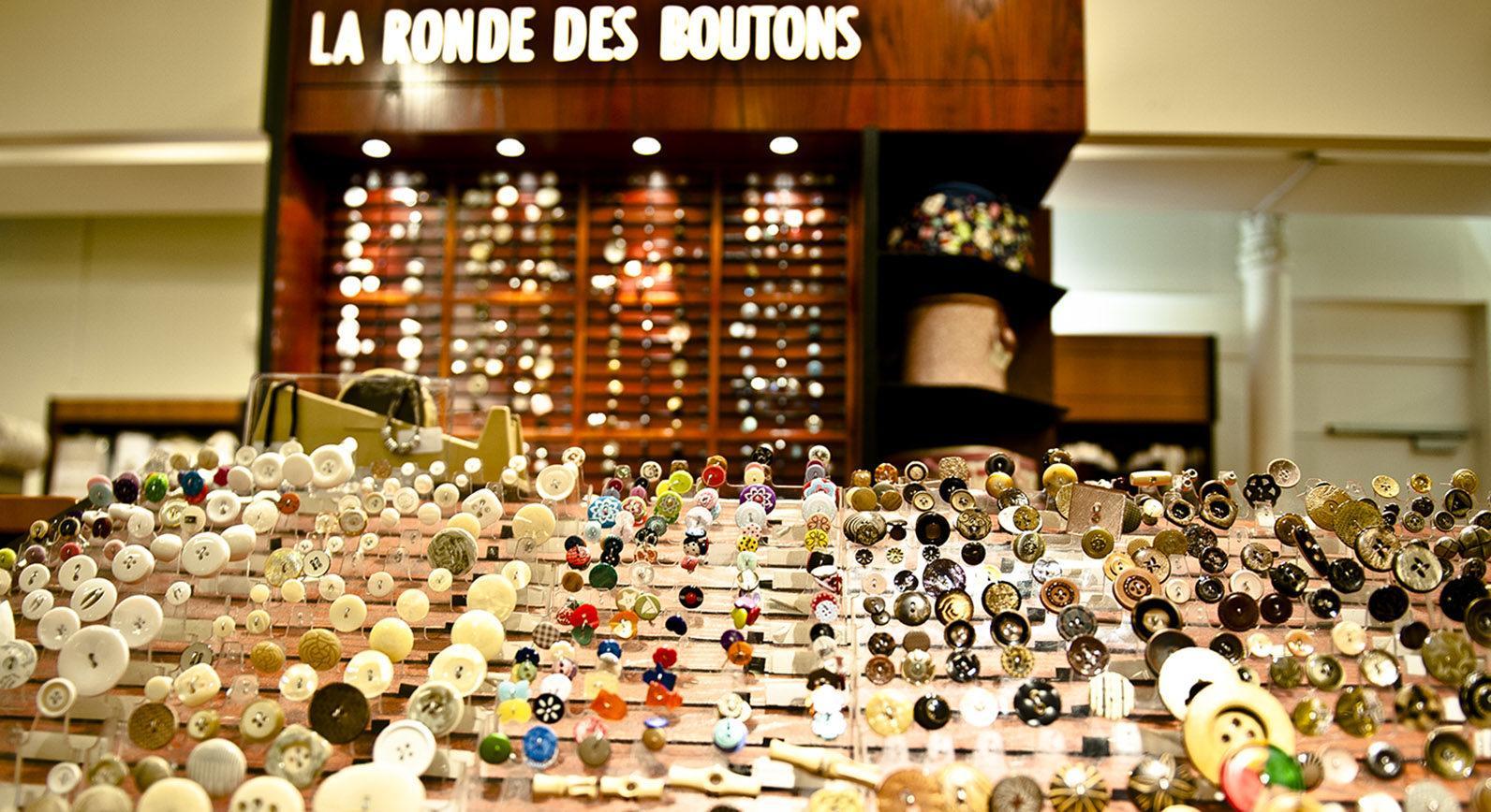 Le Bon Marché: die Knöpfeauswahl. Foto: Hilke Maunder
