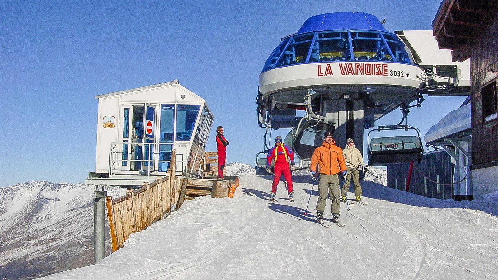 Skigebiet zu Füßen des Gletschers Grande Motte. Vanoise-Sessellift. Foto: Hilke Maunder