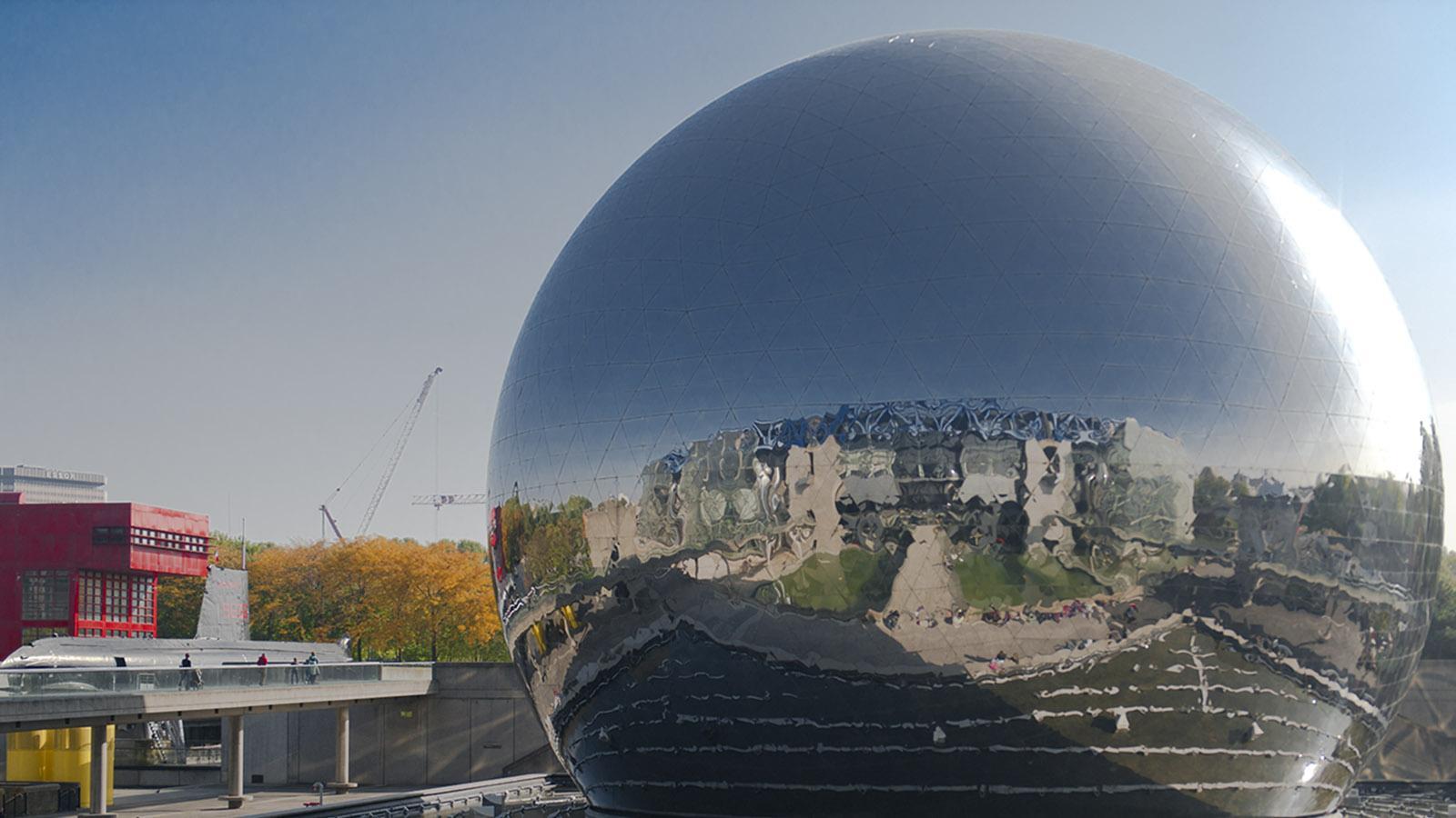La Géode - das Sphärenkino von La Villette. Foto: Hilke Maunder