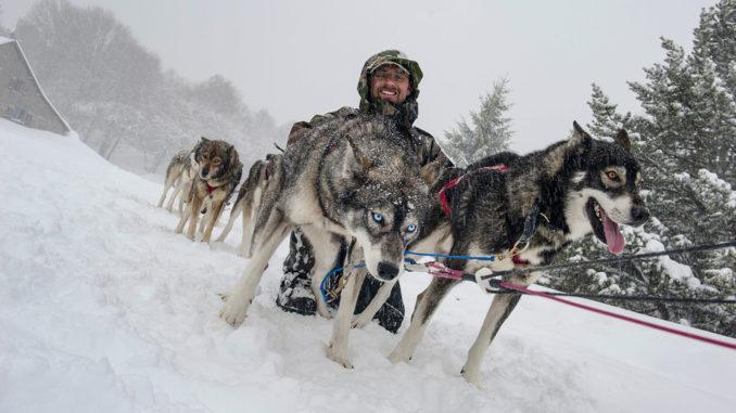 Hundeschlitten-Touren durch die Pyrenäen starten auch in Barèges. Foto: Hilke Maunder