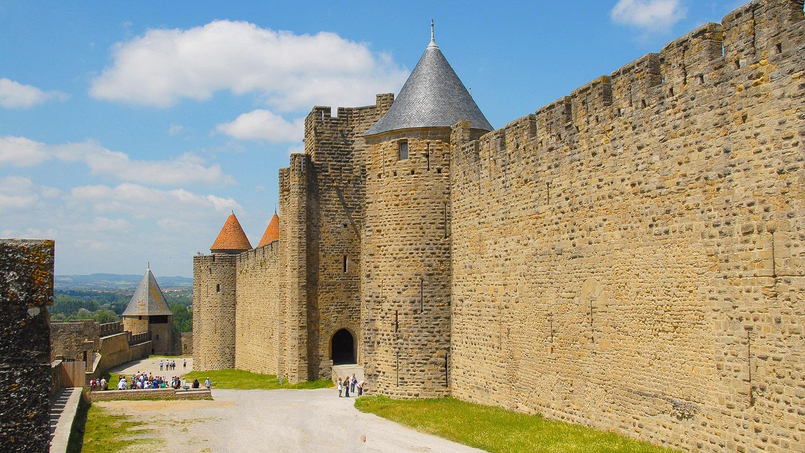 Der äußere Mauerring der Cité von Carcassonne. Foto: Hilke Maunder