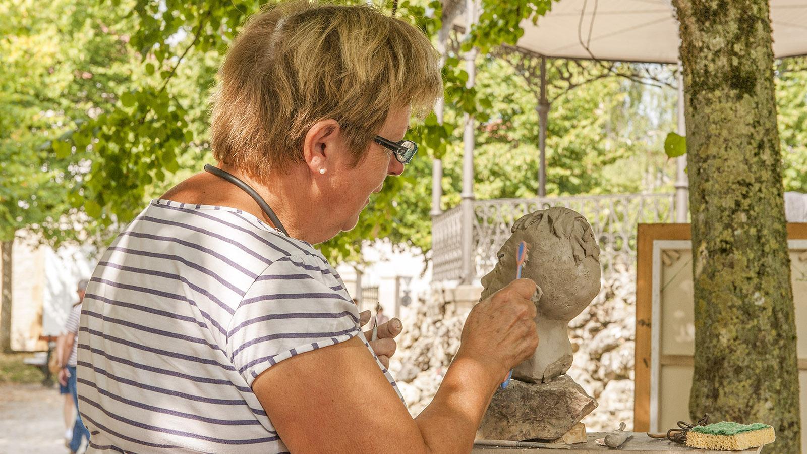 Bei Diderot in Langres: Künstlerin. Foto: Hilke Maunder