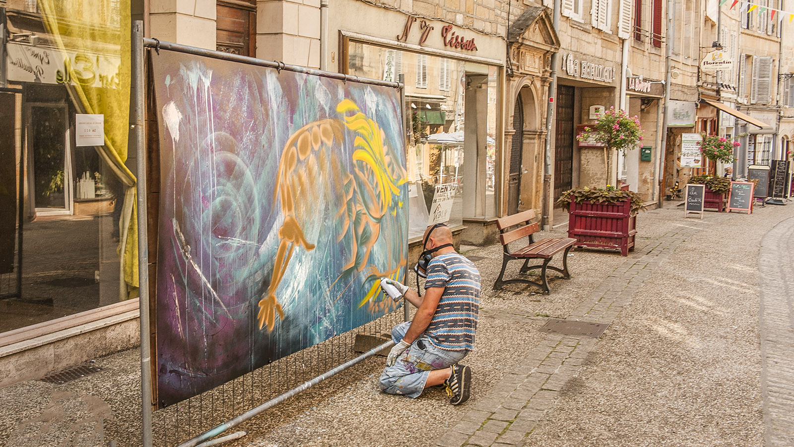 Bei Diderot in Langres: Street-Art-KünstlerFoto: Hilke Maunder